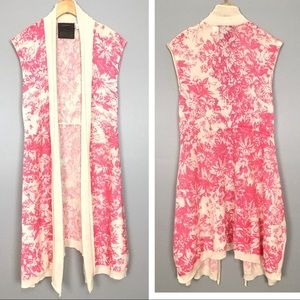 Anthropologie Guinevere Toile Sleeveless Cardigan